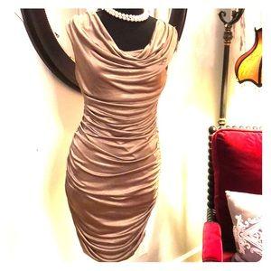 ** Brand New**Gold Cocktail Dress